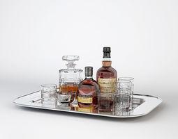 3D model Ralph Lauren Bottles Tray Service