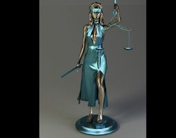 3D model figurine of the femida