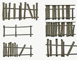 The old fence 3D asset