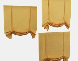 3D model Yellow Roman Shade