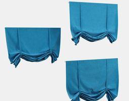 Blue Roman Shade 3D