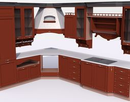 3D model Modern kitchen furniture