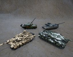 3D asset Fully functional Driveable Main Battle Tanks Pack