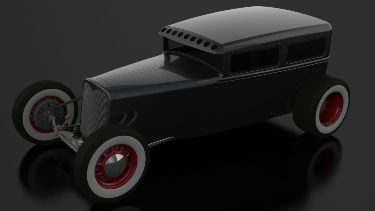Electric Hot Rod Sedan Model Stl Ige Igs Iges 2