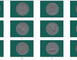12 coin 3D print model