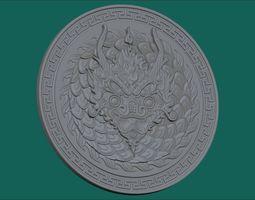3d print model dragon coin