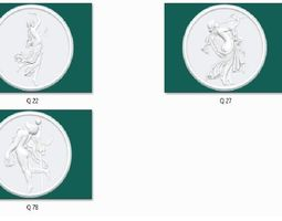 3 coin 3D print model