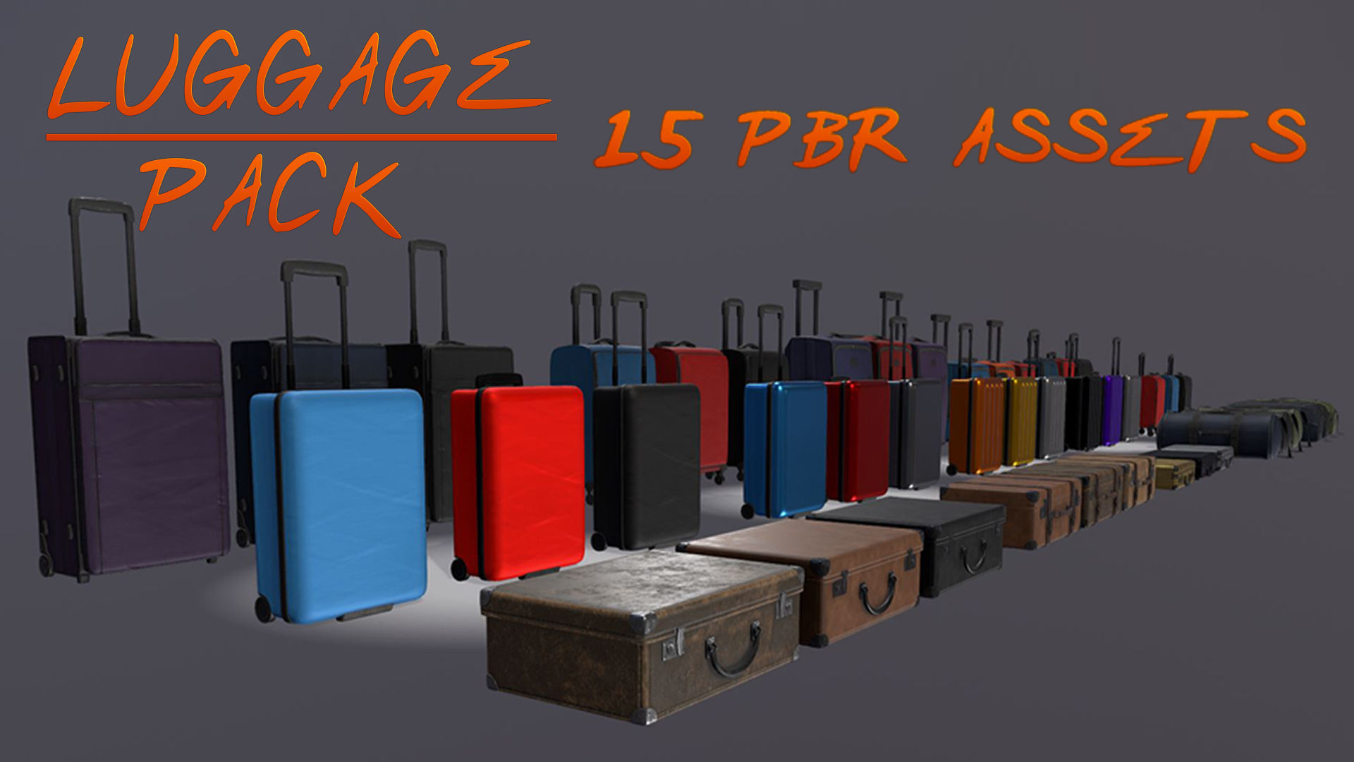 Luggage Pack - 15 PBR Assets