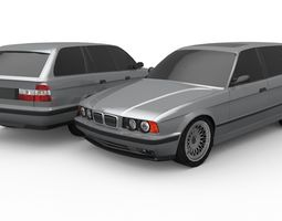 3D model e34 Touring Lowpoly