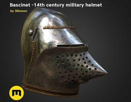 Bascinet -14th century military helmet 3D model