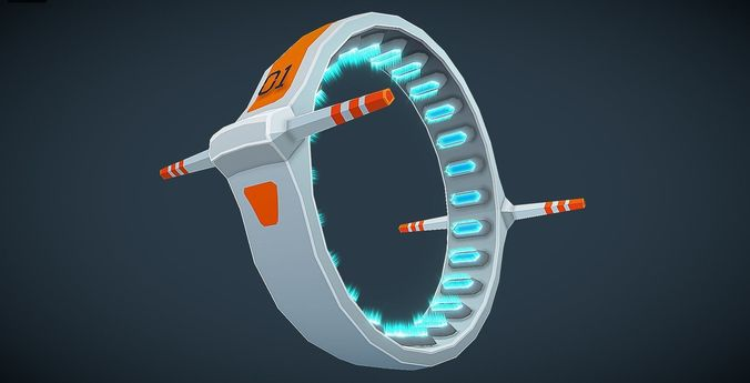 sci-fi jump gate 3d model - for mobile and rts 3d model fbx blend unitypackage prefab 1