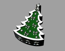 3D printable model Christmas tree bead