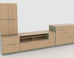 game-ready tv stand 64 3d asset