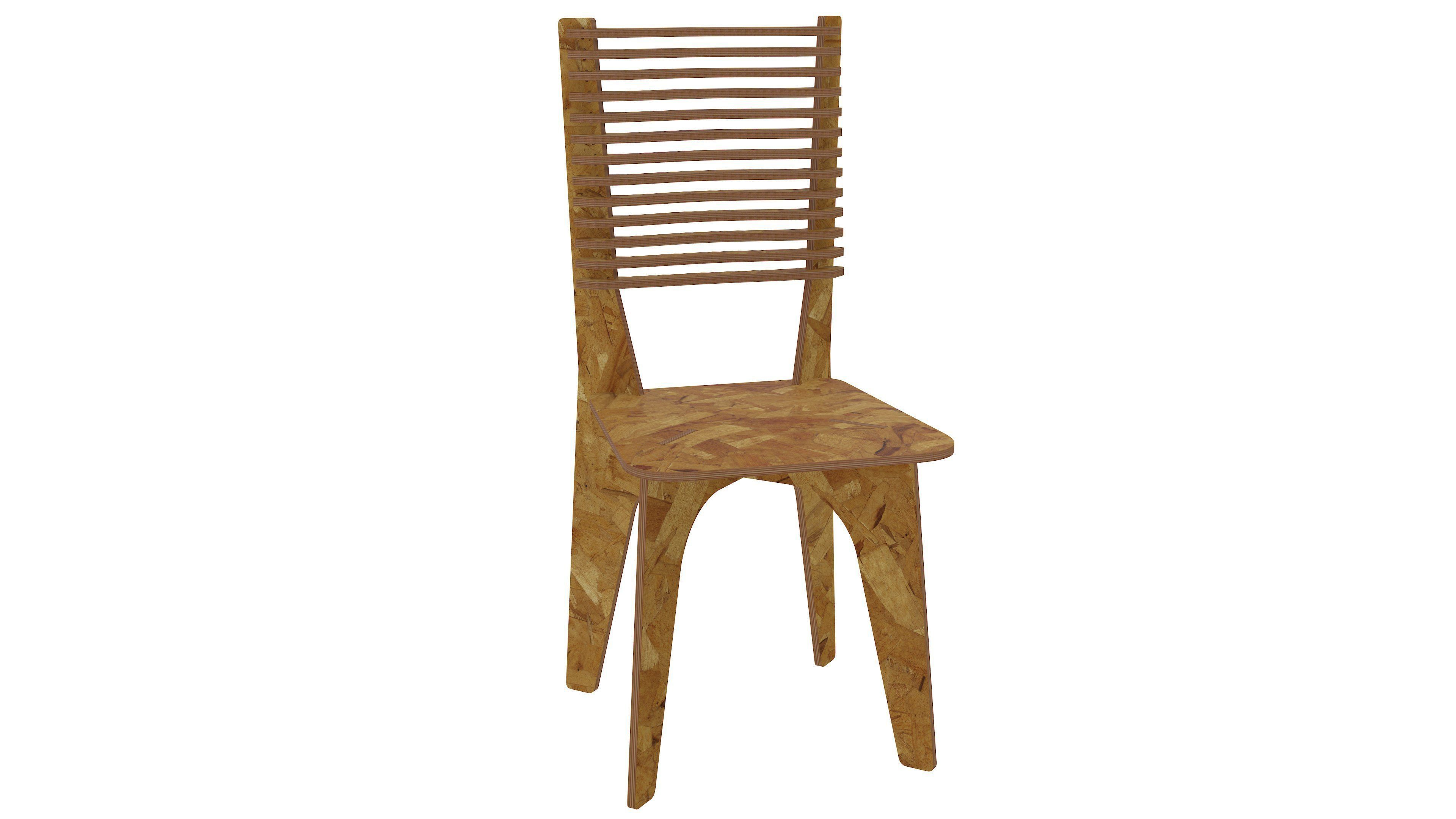 dinner chair for CNC router or laser cut | 3D Print Model