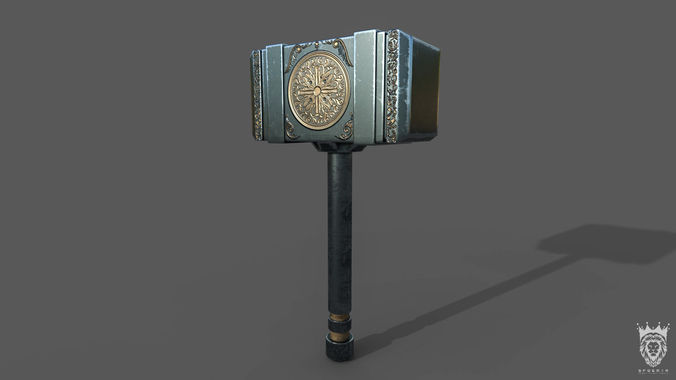 viking hammer 3d model max obj mtl 3ds fbx 1