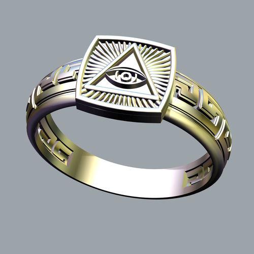 the mason ring with eye of providence 3d model obj mtl fbx stl 3dm 1