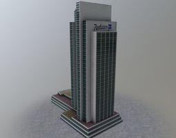 3D asset Hamburg Radisson Blu Hotel