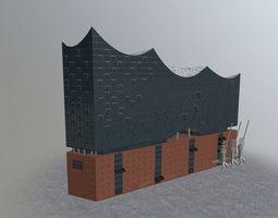 3D model Hamburg Elbphilarmonie