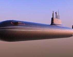 3D Typhoon-class submarine