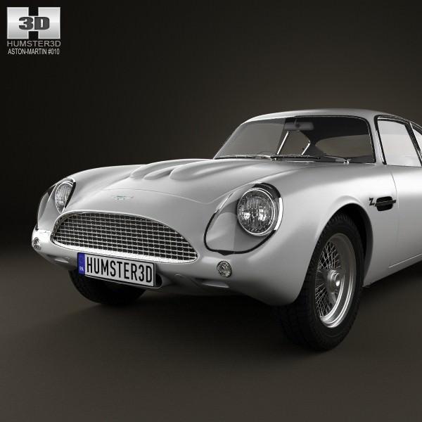 Aston Martin DB4 GT Zagato 1960 3D Model MAX OBJ 3DS FBX