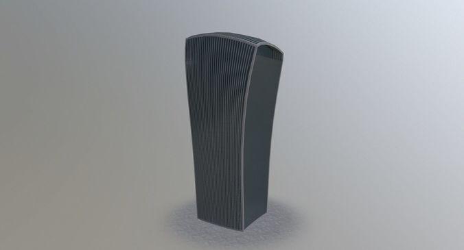 london walkie talkie 3d model low-poly max obj mtl 3ds fbx 1