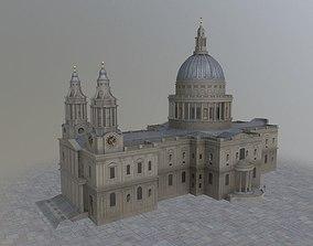 3D model London St Pauls Cathedral
