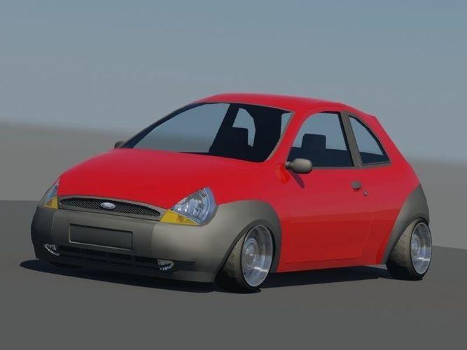 ka 3d car model 3d model max obj mtl fbx 1