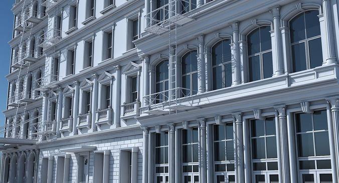 commercial building facade 18 3d model max obj mtl fbx 1