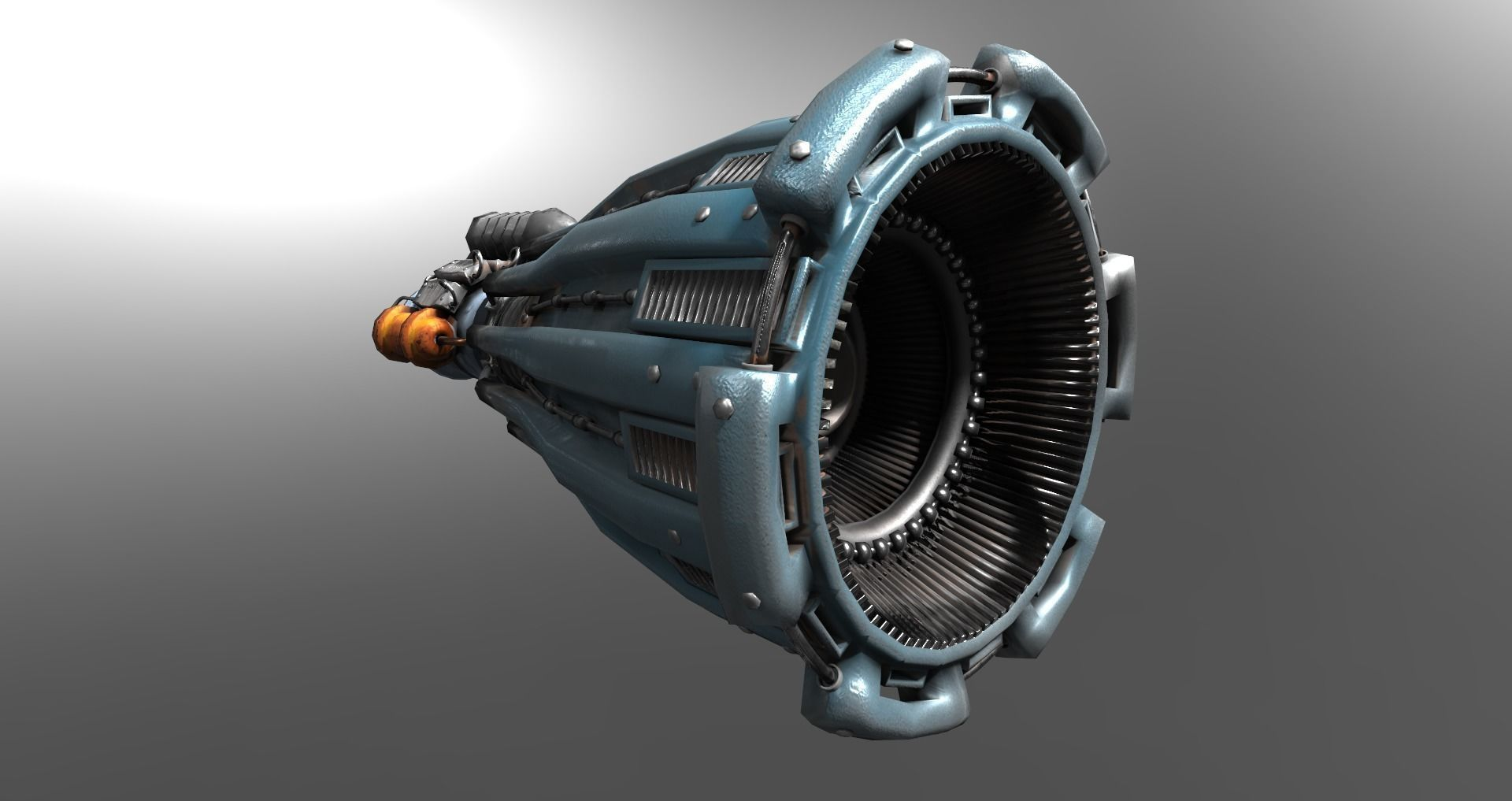 STL Scifi Rocket Engine Shroud