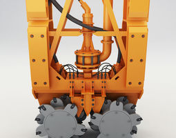 game-ready drilling rig 3d model