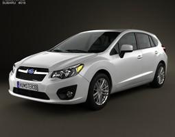 Subaru Impreza hatchback 2012 3D model