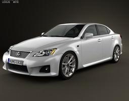 lexus is f xe20 2012 3d model