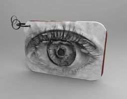 Eye keychain 3D print model