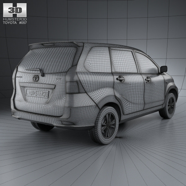 3d model toyota avanza 2012 cgtrader malvernweather Choice Image