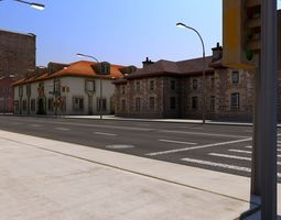 Low Poly City Block A 3D model