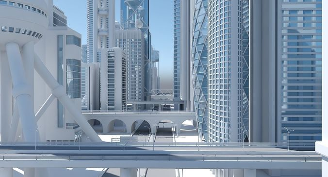 high definition city 3d model max obj mtl 3ds fbx ma mb 1