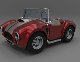 Fully Rigged Cartoon Shelby Cobra 3D model