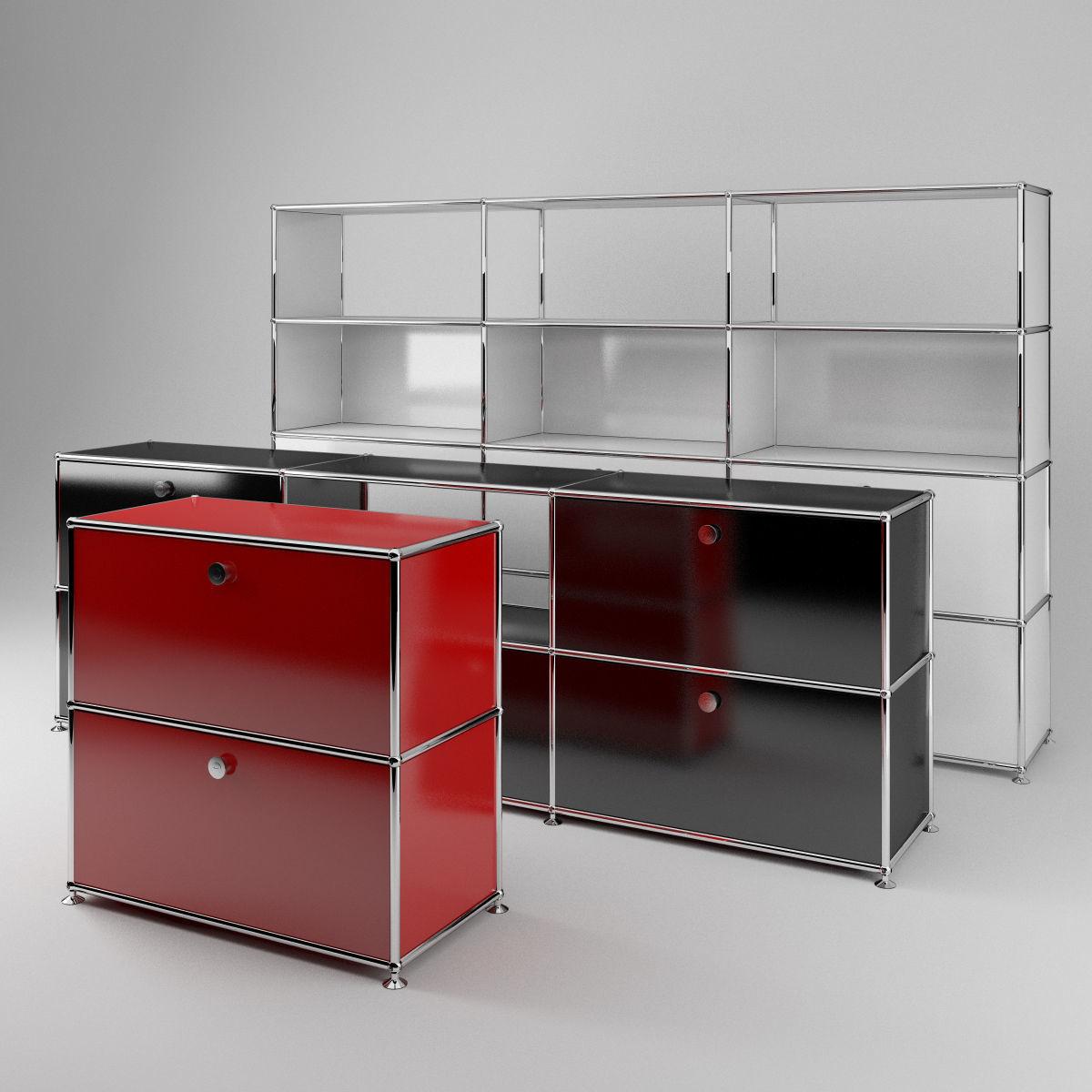 USM modular metal cabinets