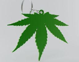 3D print model Cannabis Leaf Keychain