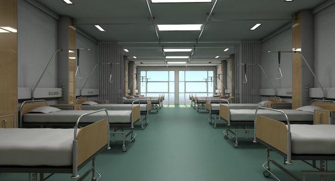 recovery room 2 3d model max obj mtl 3ds 1
