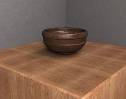 Wooden Bowl 3D