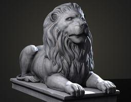 3D asset Stone Lion Statue