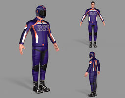 3D model game-ready Biker