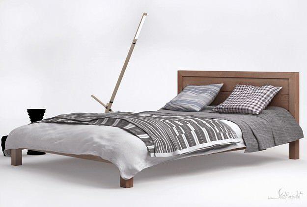 3d modern bed ledger cgtrader