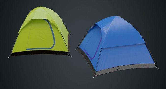 camping tent 1a 3d model low-poly obj mtl fbx blend 1