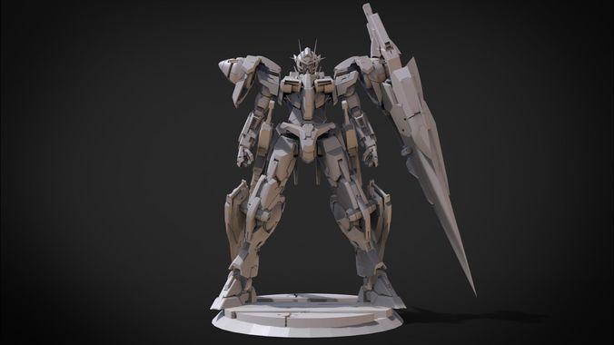 gundam 00 7 swords 3d model obj mtl fbx stl blend x3d ply 1