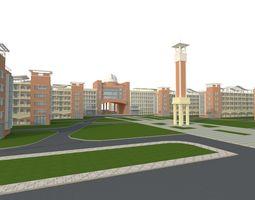 School 3D model building