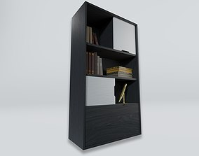 BOOKCASE WITH BOOKS 3D asset realtime