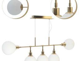3D model Suspended chandelier Maytoni Erich MOD221-PL-05-G