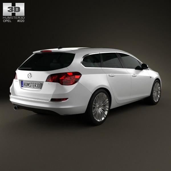 ... Opel Astra J Sports Tourer 2012 3d Model Max Obj 3ds Fbx C4d Lwo Lw Lws  ...